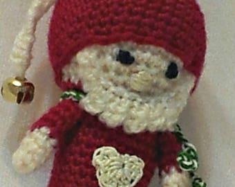 Little Santa crochet doll