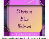Girl's glossy cover version - Unique children's personalized movie book & DVD saying child and parents name