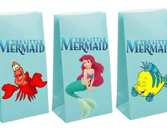 Little Mermaid birthday Party gift Favor Bags~ Birthday party decor