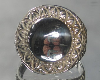 Vintage Sterling Silver Ball Ring Sz 7.5 M52