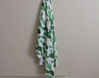 Watercolor Cactus Swaddle, Baby Swaddle, Gender Neutral, Baby swaddle, Organic Swaddle, cactus baby, cactus, organic baby blanket