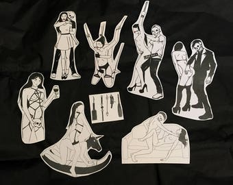 ON SALE Love Obey / BDSM Kink Fetish Sex Stickers / Sticker Pack
