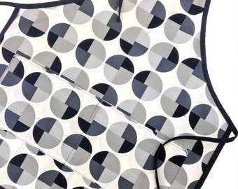 Gray Geometric Adult Apron