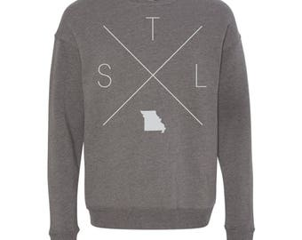 St. Louis Sweatshirt - STL Home Sweater, Missouri Off Shoulder Sweatshirt