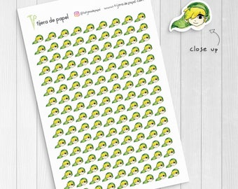 Watercolor Link Drawing Illustration Stickers, Cute Nintendo Zelda Stickers