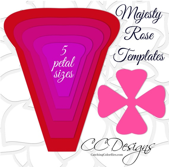 Paper rose printable templates printable paper flower templates il570xn mightylinksfo