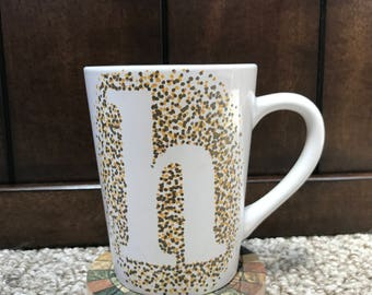 "Dotted Initial ""h"" Mug"