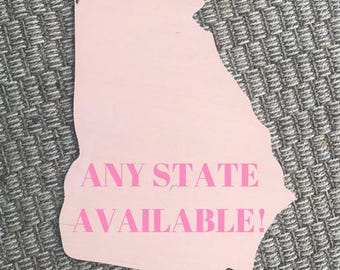 State Wooden Blank | Blank State Cutout | Unfinished State Cutout | State Door Hanger | Georgia Door Hanger | DIY Wooden Blank | Wooden Sign