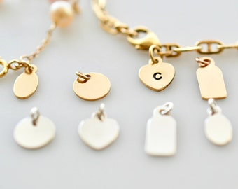 Add-On Chain Tag, Personalized Tag, Bracelet Tag, Necklace Tag, Gold Fill Tag, Sterling Silver Tag, Dainty Add-on Tag