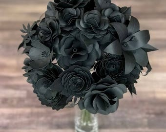 gothic wedding flowers bouquet etsy 4584