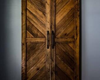 Cypress Chevron Barn Door(s)