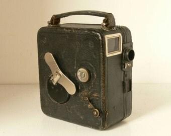 Vintage  Pathe Baby Cine Motocamera 9.5mm Movie Camera - Mechanical - Fully Working - 1920s