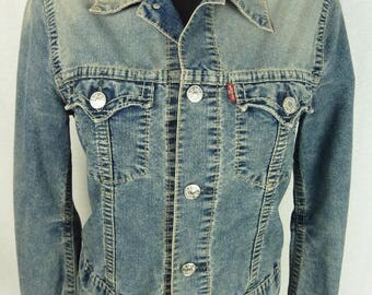 LEVI jacket ' S - denim jacket - jacket - LEVIS - denim - denim jacket Vintage blue - Stonewashed denim jacket - jacket Levis size M
