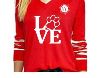 Love dog paw  SVG   cut file  t-shirts, Dog svg, Love svg, Pet svg, dog lover svg, cricut,  cameo Commercial use