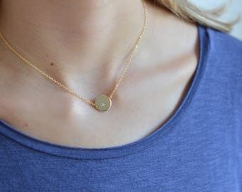 Custom Stamped 16K Gold Plated Circle Necklace