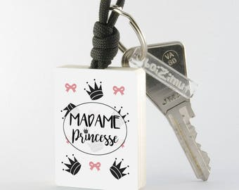"Porte-Clé en bois collection Madame ""Madame Princesse"""