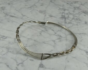 Sterling Silver Necklace Cuff