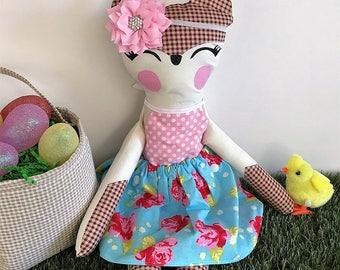 Fox Stuffie, READY TO SHIP, Stuffed Fox, Christmas, Easter