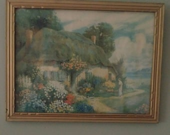 Vintage English Cottage Print