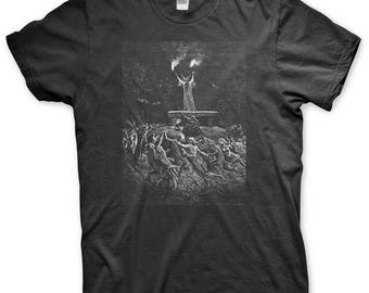Witches Sabbath - Screen Printed T Shirt - Gustave Dore - Satan