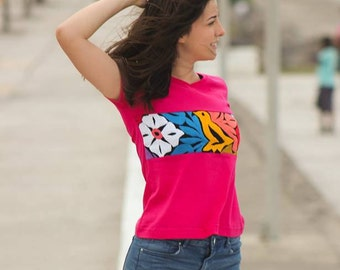 Mexican embroidered blouse //Oaxacan t shirt