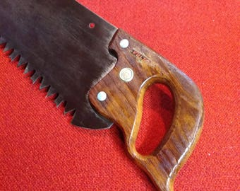 "Vintage Fulton Crosscut Saw 36"" Aggressive Tooth Steel Timber Saw"