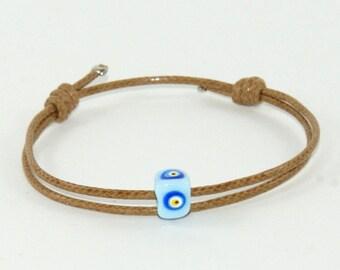Mens evil eye bracelet-Evil eye bracelet for men-Evil eye-Goodluck bracelet-Evil eye string bracelet - Men's luck bracelet-Evil eye jewelry