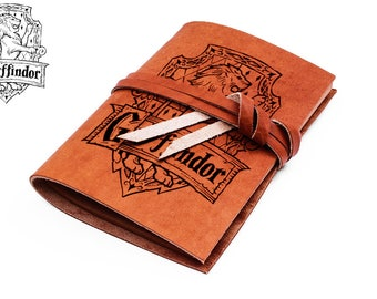 Gryffindor notebook - leather bound journal - Harry potter notebook - gryffindor journal - harry potter diary - leather journal