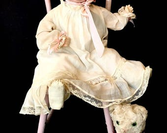 """Beautiful Antique German Bisque Doll: """"Bonnie Babe"""" Character Doll"""