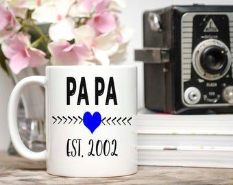 Grandpa Mug, Grandpa Gift, New Grandpa Gift, Fathers Day Gift, Pregnancy Reveal, Coffee Mug, Personalized Grandpa Coffee Cup, Papa Gift