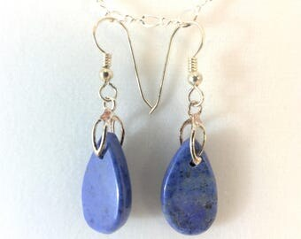 Earrings - Dumortierite
