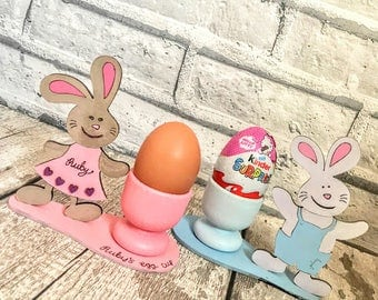 Easter gift Egg cup Easter bunny egg cup Easter gifts Wood egg holder Wooden egg holder Easter egg cups Egg cups Egg cup Egg cup set Bunny