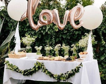 LOVE Script Balloon | Rose Gold Love Balloon | Wedding Balloon | Engagement Balloon | Rose Gold Balloon | Valentine's Love Balloon