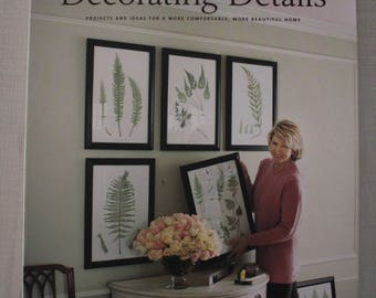 Martha Stewart Decorating Details 1998, Martha Stewart, Decorating Books, Home Decorating Ideas