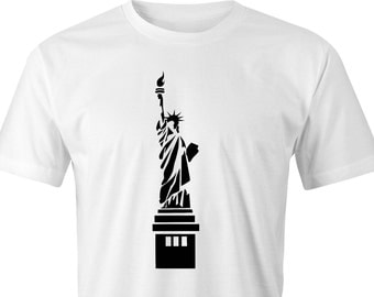 Statue of Liberty print T-shirt, Statue of liberty Print, New York Statue of Liberty T-Shirt, New York Statue of Liberty, Statue of Liberty.