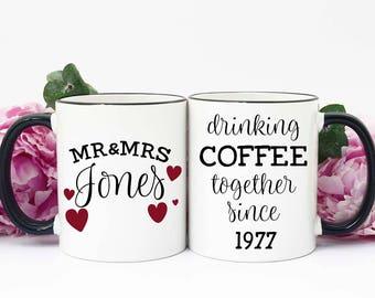 40th Anniversary Gift, Gift for 40th Anniversary, 40th Anniversary Gift for Parents, 40th Wedding Anniversary, Ruby Red Anniversary, Mug