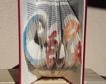 Name/Word custom - Pastel folded book - Disney typography
