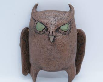 Sam the Owl, Art Doll, OOAK