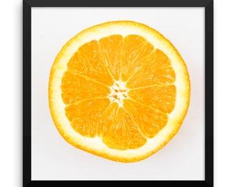 Orange Photography Print | Wall Art | Kitchen Decor | Citrus | Kitchen Art | Square Print | Pop of Color | Cheerful | Modern Art | Bright