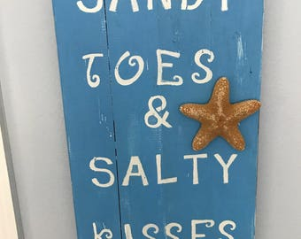 Wood Beach Signs, Wood Beach Sayings,Wood  Coastal Decor, Bathroom Decor, Living Room Decor