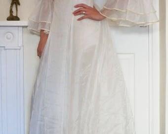 Margot 1970s Vintage Bridal Dress