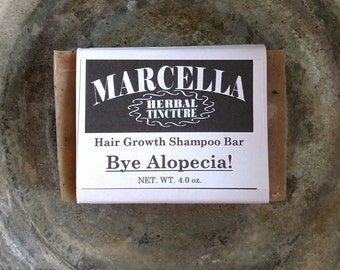 The BYE ALOPECIA Handcrafted Solid Shampoo Bar All Natural Organic Vegan Improves Follicle Nutrition & Stimulates Scalp For New Hair Growth