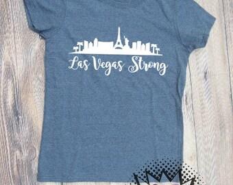 Las Vegas strong grey white tshirt shirt Tee Short sleeve