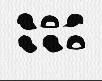 baseball hats svg dxf file stencil monogram frame silhouette cameo cricut clip art commercial use
