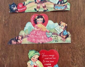 24 Vintage Valentine Card/Cards 1930's Good Condition