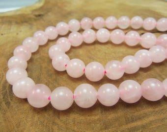 10 8mm rose Quartz round beads / semi-precious stones / gems