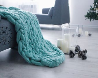 merino wool blanket etsy. Black Bedroom Furniture Sets. Home Design Ideas