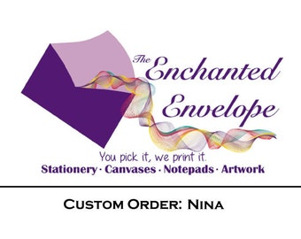 CUSTOM LISTING: Nina, Custom note cards, Personalized note cards, Custom Stationery Set, Logo Note Cards, Business Stationery, Custom Print