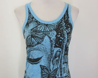 BUDDHA AND BUTTERFLY  ~ Cotton Yoga/Festival Top!