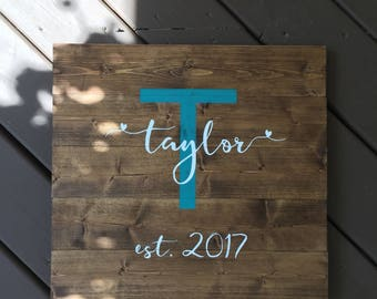 Last Name Wood Sign, Personalized Wood Sign, Custom Wood Sign, Wedding Wood Sign, Personalized Wedding Signs, Custom Wedding Signs